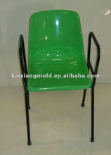 2012 newly design waiting plastic chairs top parts whith arms injection mould/mold 01