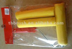 Sponge Paint Roller Brush Cover Plastic Sponge And Foam Roller Brush