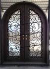 custom design round top wrought iron entry doors