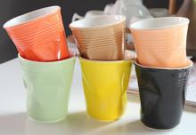 Antique Design Creative Style Customized Paper Folding Ceramic Porcelain Coffee Tea Mugs Cups, Ceramic, Stoneware, Porcelain