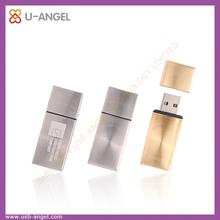 Custom logo flat 8gb usb flash drive, metal plain usb memory stick as promotional gift