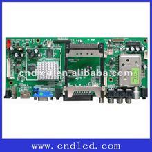 The controller board for digital TV / Analog TV ,support DTV (DVB-T) H.264 format/SCART IN/ OUT/NICAM/Teletxt/SPDIF/HDMI/USB