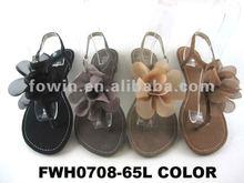2013 Ladies fashion flat flower sandals