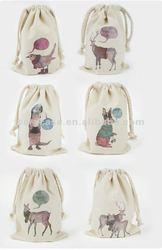 mobile holder cotton pouch, drawstring mobile holder case