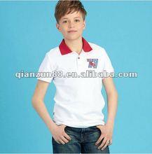 2012 popular cotton turtleneck white sleeve sports children T shirt