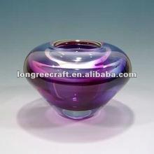 Hand Blown Purple Color Glass Vase