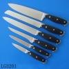 6pcs steel head kitchen knife set