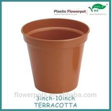 6 inch Red ceramic planter
