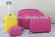 2012 5PCS convenient aluminum trolley PP case