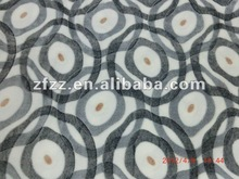 2012 new design coral fleece fabric with burnout finishing