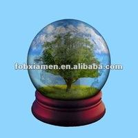 polyresin natural landscape big tree snow globe