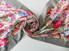 ladies long worsted flower printing 100% wool pashmina shawl scarf