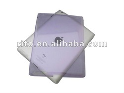 Purple PC Rubberized Matte Hard Shell Case for New iPad in 10 colors option