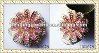 2012 fashion pink alloy shoe flower