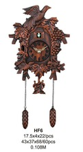 2013 cheap price fake wood color plastic cuckoo wall clock