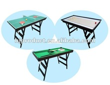Customized convertible 3-in-1 shuffleboard table tennis Snooker table for kids