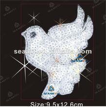 Special design hot fix rhinestone motif - flying bird