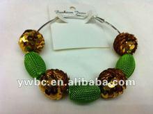 baseketball wives mesh ball earrings jewelry (E730108)