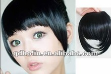 human hair pieces bangs