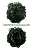 Hair Bun Chignon Extension Hairpieces Big Hair Bride Bun Ring Dount Synthetic Natural Curly Clip In Hair Buns