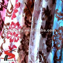 Shalang fashionable latest flocked living room drapes drapes