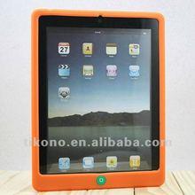 Soft Silicon Case for iPad 4 ORANGE