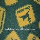 Double sided polar fleece fabric with deer printing