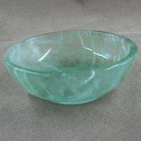 Small Green Salad Bowl Green Fluorite Home Decoration