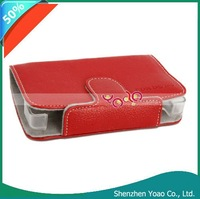 Carry Bag Leather Case For NDSL Red