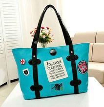 2013 PU Large Capacity Women's New Patch Handbag