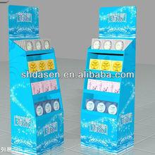 sale cardboard display paper stand,display store sale,display supermarket rack