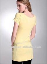 latest design fashion long T-shirt for women clothing