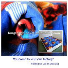 100% Polyester Big Flower Print Fleece Fabric