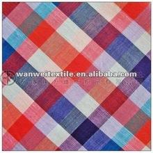 cotton yarn dyed checks poplin for shirt