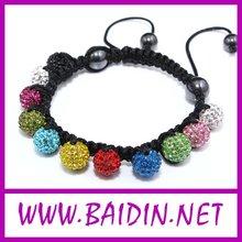 custom peace shamballa bracelet wholesale