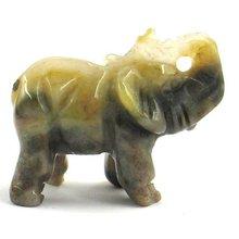 """1"""" sculture in pietra elefante argento scuro agata foglia"""