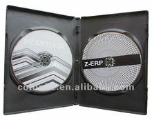 14mm black DVD case for 2 discs