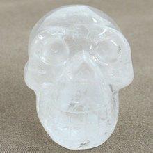 """2 """" escultura crânio de cristal de quartzo cristal de rocha"""