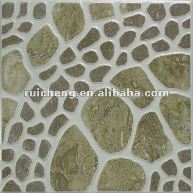 Pisos Para Baño Rusticos:Suelo rústico de cerámica pebble como ideas azulejos del baño ( 300