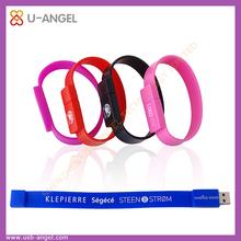 hot selling Bracelet usb storage,fancy design wrist strap usb flash drive 4gb