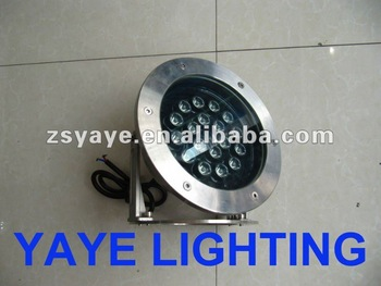 YAYE Hot Sell Good Price High Quality (1W-36W) Underwater LED Pool Light 12V 18W IP68