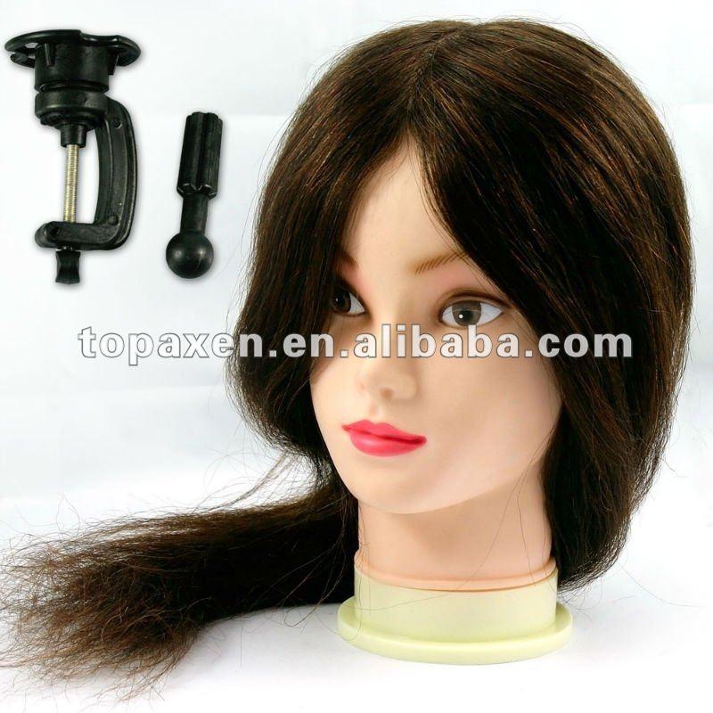 """Equipo largo del salón de la peluquería del pelo verdadero humano 18 de la CABEZA el 100% del ENTRENAMIENTO """""""