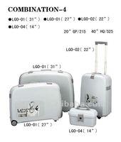 2012 New type 4 pcs/set PP luggage case hard side luggage