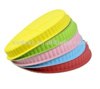 Colorful Nonstick Food Grade Oven Safe Silicone Pizza Pan Cake Mould