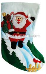 CHRISTMAS DECORATION HOLDER FELT SANTA STOCKING