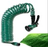 50Ft EVA Recoil Garden Hose With Trigger Spray Gun