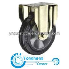 european style mold on elastic rubber heavy duty fix caster