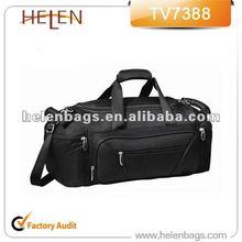 1680D polyester sample Black Duffle Bag