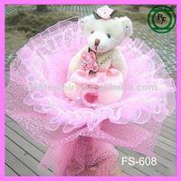 Cartoon plush tedday bear cheap plush toy bouquets