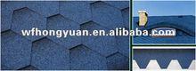 blue bitumen roofing tile